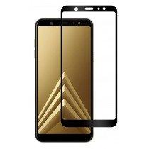Tempered Glass (volledig scherm) Samsung Galaxy A6 zwart