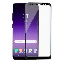 Tempered Glass (volledig scherm) Samsung Galaxy A8+ 2018 zwart