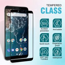 Tempered Glass (volledig scherm) Xiaomi Mi A2 zwart