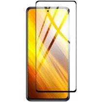 Tempered Glass (volledig scherm) Xiaomi Poco X3 zwart