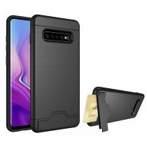TPU card case Samsung Galaxy S10 zwart