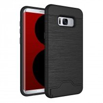 TPU card case Samsung Galaxy S8 Plus zwart