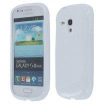 Silicon TPU case Samsung Galaxy S3 Mini i8190 wit