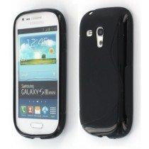 Silicon TPU case Samsung Galaxy S3 Mini i8190 zwart