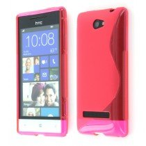 Silicon TPU case HTC 8S roze