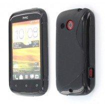 Silicon TPU case HTC Desire C zwart