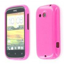 Silicon TPU case HTC Desire C roze
