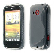 Silicon TPU case HTC Desire C smoke