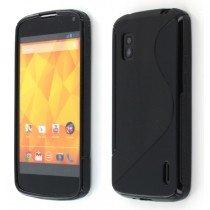 Silicon TPU case LG Nexus 4 zwart