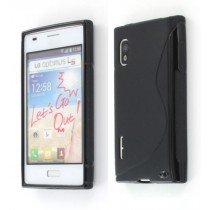 Silicon TPU case LG Optimus L5 E610 zwart