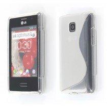 Silicon TPU case LG Optimus L3 II E430 transparant