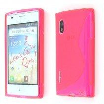 Silicon TPU case LG Optimus L5 E610 roze