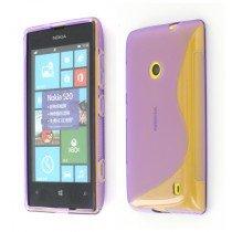 Silicon TPU case Nokia Lumia 520 paars