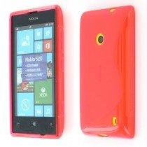 Silicon TPU case Nokia Lumia 520 roze