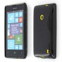 Silicon TPU case Nokia Lumia 520 zwart