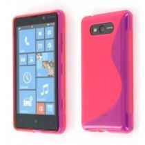 Silicon TPU case Nokia Lumia 820 roze