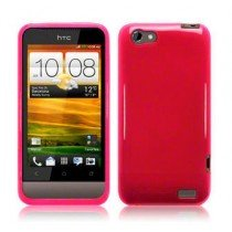 Silicon TPU case HTC One V roze