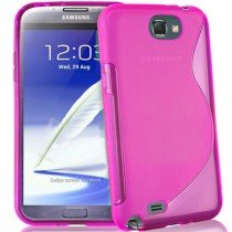 Silicon TPU case Samsung Galaxy Note 2 N7100 roze