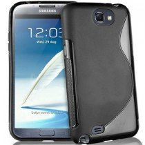 Silicon TPU case Samsung Galaxy Note 2 N7100 smoke