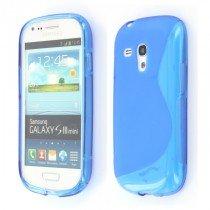 Silicon TPU case Samsung Galaxy S3 Mini i8190 blauw