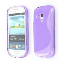 Silicon TPU case Samsung Galaxy S3 Mini i8190 paars