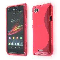 Silicon TPU case Sony Xperia L roze