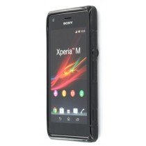 Silicon TPU case Sony Xperia M zwart