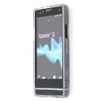 Silicon TPU case Sony Xperia S smoke