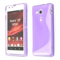 Silicon TPU case Sony Xperia SP paars