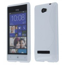 Silicon TPU case HTC 8S wit