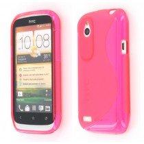 Silicon TPU case HTC Desire X roze