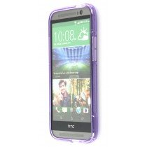 Silicon TPU case HTC One M8 paars