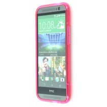 Silicon TPU case HTC One M8 roze