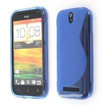 Silicon TPU case HTC One SV blauw