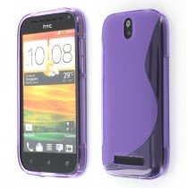 Silicon TPU case HTC One SV paars