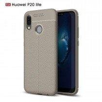 TPU hoesje leer Huawei P20 Lite beige/taupe