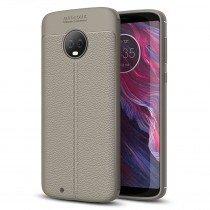 TPU hoesje leer Motorola Moto G6 beige/taupe