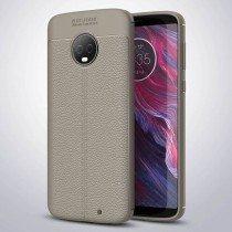TPU hoesje leer Motorola Moto G6 Plus beige/taupe