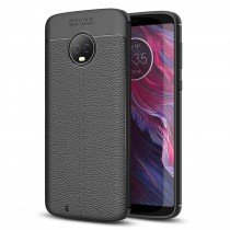 TPU hoesje leer Motorola Moto G6 zwart