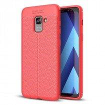 TPU hoesje leer Samsung Galaxy A8 2018 rood