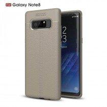 TPU hoesje leer Samsung Galaxy Note 8 beige/taupe