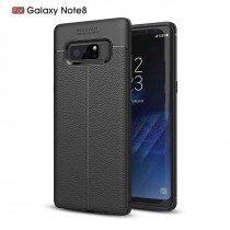 TPU hoesje leer Samsung Galaxy Note 8 zwart