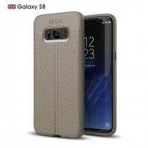 TPU hoesje leer Samsung Galaxy S8 Plus beige/taupe