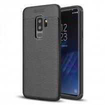 TPU hoesje leer Samsung Galaxy S9 Plus zwart