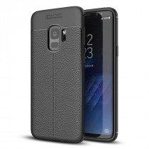 TPU hoesje leer Samsung Galaxy S9 zwart