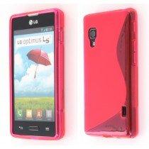 Silicon TPU case LG Optimus L5 II E460 roze