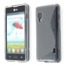 Silicon TPU case LG Optimus L5 II E460 smoke