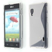 Silicon TPU case LG Optimus L5 II E460 transparant