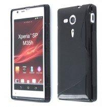 Silicon TPU case Sony Xperia SP zwart