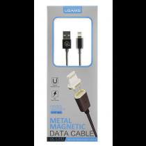 USAMS Lightning naar USB kabel - magnetisch 1,2m